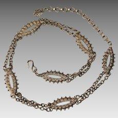 Trifari Gold Tone Chain Belt
