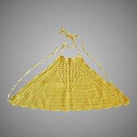 Crocheted Yellow Halter Top