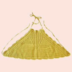 Crocheted Yellow Halter Top