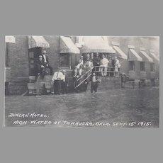 RPPC Pawhuska, Oklahoma. Flood, 1915