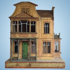 Rare large Gottschalk dolls house no. 4246. Circa 1900.
