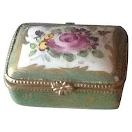 Pretty antique French porcelain trinket box