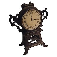 Antique metal dolls house clock