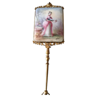 Beautiful 19th century Limoges mirror ideal for dolls
