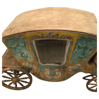 Pretty antique French Cinderella coach