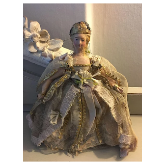 Beautiful early antique 19th century princess fairy doll