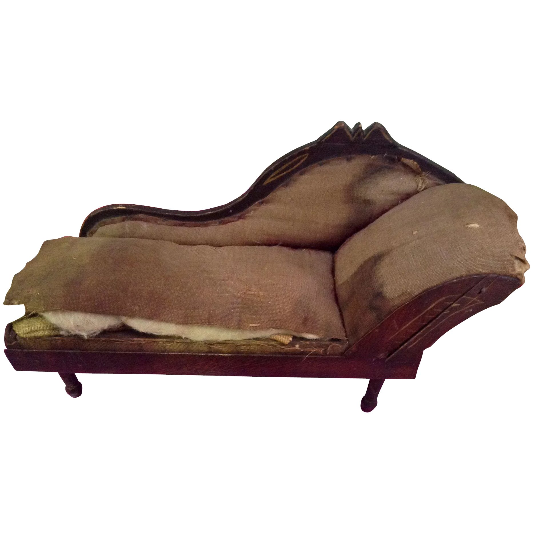 Antique wooden dolls chaise lounge daisydoradolls ruby for Antique chaise lounge prices