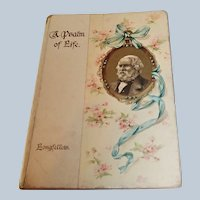 'A Psalm of Life' 19C Poetry Book  - Longfellow