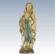 Vintage 1930's Our Lady of Lourdes Portable Small Statuette
