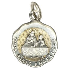 French Circa 1900 Silver Communion Medal -PIEL