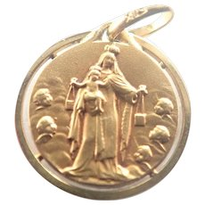 French Gold Filled 'FIX' Double Sided Medal / Charm - E DROPSY