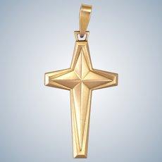 French Gold Filled 'FIX' Cross Pendant - SAVARD
