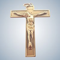 Large French Bronze Crucifix