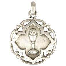 French Silver 1902 Communion Medal - 4.7 grams
