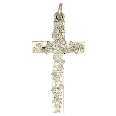 Silver Circa 1900 Trailing Ivy Cross