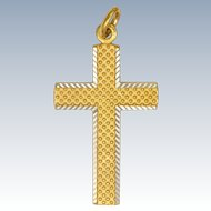 French 18K Gold FIlled Cross Pendant - MURAT