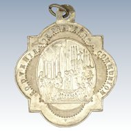 French 1886 Silver Communion Medal