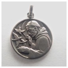 French St Francis of Assisi Silver Medal - Jean Vernon