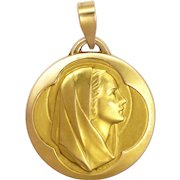 French Gold Filled Virgin Mary Pendant or Charm - FIX