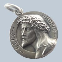 French Silver 'Ecce Homo' Jesus Medal - CHARL