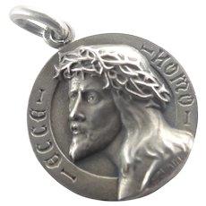 French Silver 'Ecce Homo' Jesus Medal - CHARL