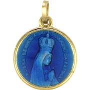 Our Lady of Fatima and of La Salette Enamel Medal or Charm