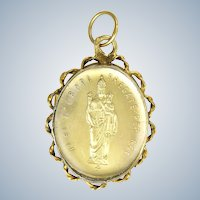 Italian 19C Silver Our Lady Reliquary Pendant