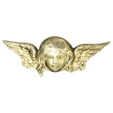 Victorian Sterling Silver Angel Head Pin