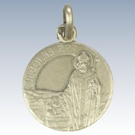 French St Nicholas Silver Medal or Charm