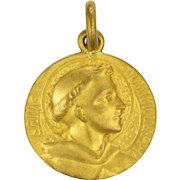 French St. Dominic 18K Gold Plated Medal - TRICARD