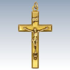 French Gold Filled 'FIX' Crucifix