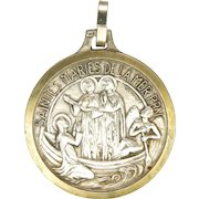 French Silver Plated Medal - St. Marys of the Sea and St.Sarah