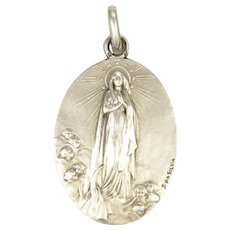 Portuguese Silver Our Lady Medal