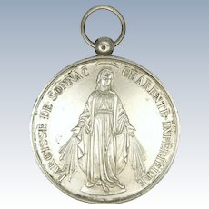 Large French Silver Miraculous Medal  1907