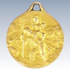 French 1917 St Christopher Gold Filled 'FIX' Medal - Tairac