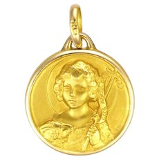 French Gold Filled John the Baptist Medal or Charm - FIX