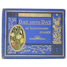 Victorian 'Day unto Day' Illuminated Memorial Diary