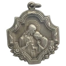 French 1906 Silver Communion Medal