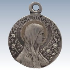 French 'Rosa Mystica' Mary Silver Medal