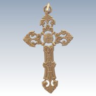 French 18K Gold Filled Cross - MURAT