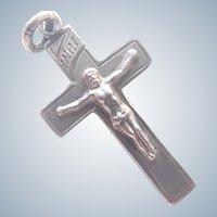 Victorian 1898 Small Silver Crucifix