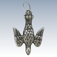 French Circa 1880 St Esprit Silver Bird Charm
