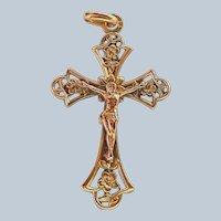 French Art Nouveau 'FIX' Gold Filled Crucifix