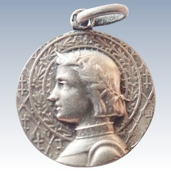 French Art Deco Joan of Arc Silver Medal - TRICARD