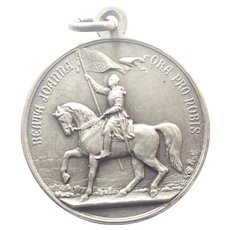 French Blessed Joan of Arc 1909 and Pius X Medal