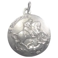 French St George and Dragon Silver Medal or Charm
