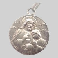 French Silver Communion Medal - Bread of Life