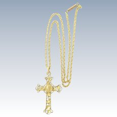 French Art Nouveau 'FIX' Cross and Chain