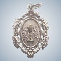 French 1918 Silver Communion Medal