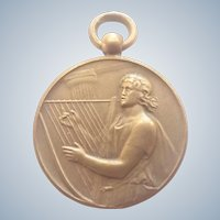French Saint Cecelia Bronze Music Medal